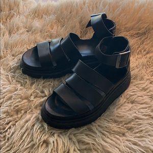 Dr. Martens Clarissa I Brando Black Sandals Size 5